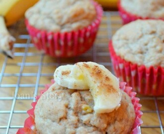 Recept: clean eating banaan-appelmoesmuffins