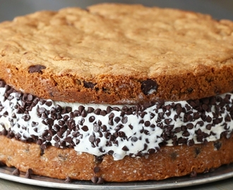 Giant Cookie Ice Cream Sandwich - YouTube
