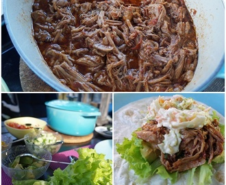 Pulled pork med hemmagjord barbequesås