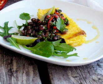 Superpower Polenta w Chimichurri Bean Salad