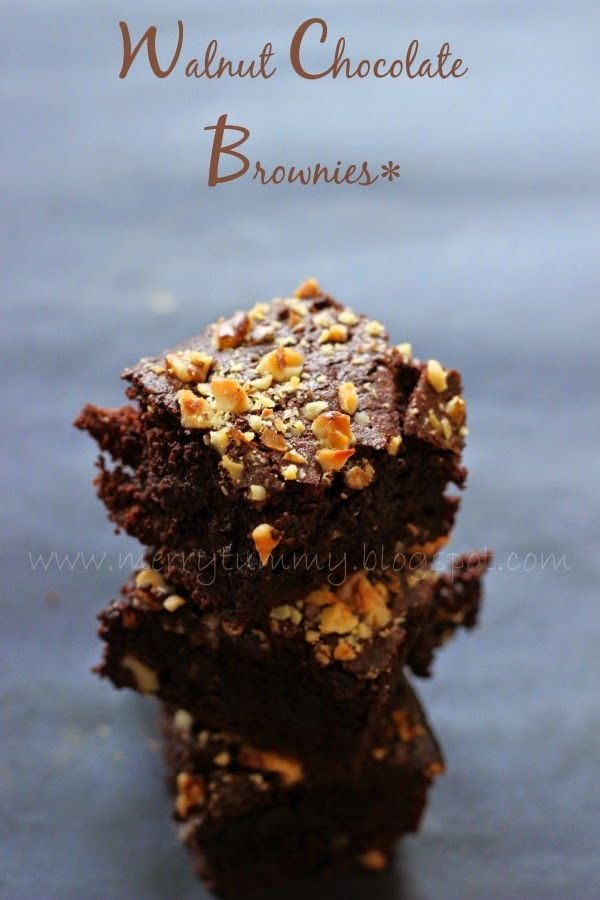 The Best Walnut Chocolate Brownies Ever