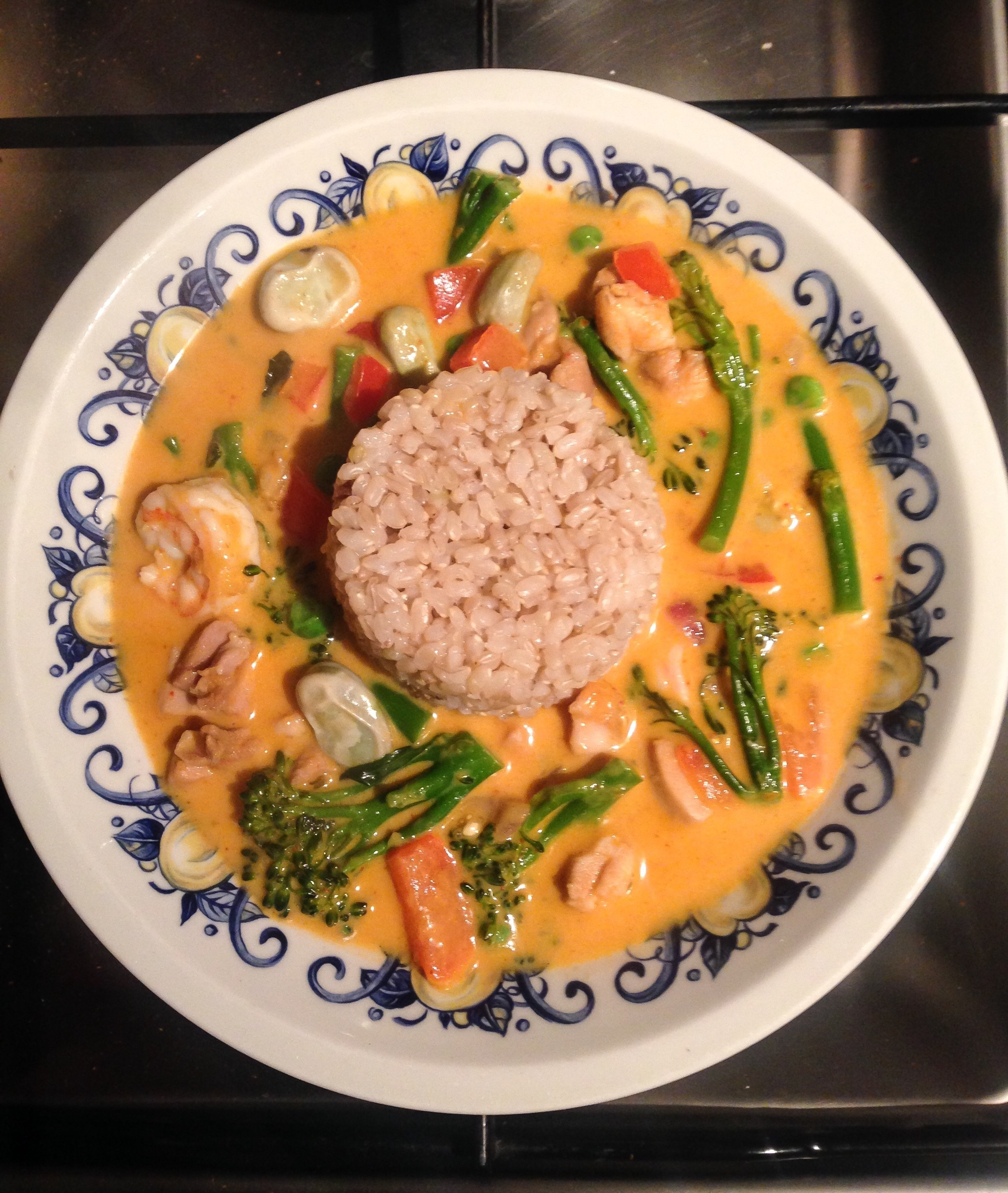 Easy Thaise Rode Curry met Kipdijfilet & Gamba's