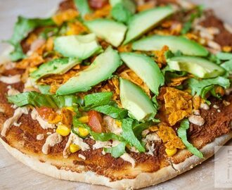 Vegan Taco Pizza with GO Veggie! Mexican Style Shreds