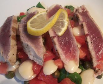 Seared Tuna And Cannellini Bean Salad