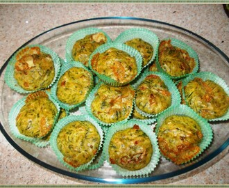 Muffin alle noci, gorgonzola e broccoli