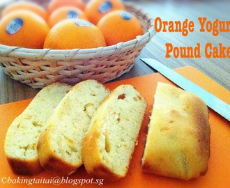 Orange Yogurt Pound Cake Tutorial Recipe 柳橙优格磅蛋糕 (中英食谱教程)