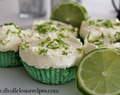 Lime Cupcakes with Cheesecake Topping