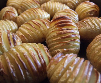Hasselback potatoes – 'hedgehog potatoes'
