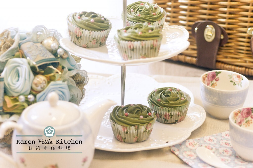 綠茶杯子蛋糕 Green Tea Cupcake with Buttercream Frosting