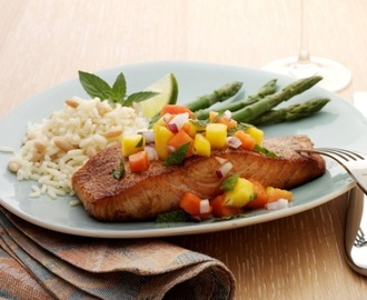 Guest Post - Blackened Salmon with Tropical Fruit Salsa