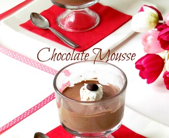 Chocolate mousse / 300 th post / With stepwise pictures