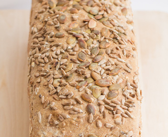 Sourdough Bread with Multigrain Flour and Seeds