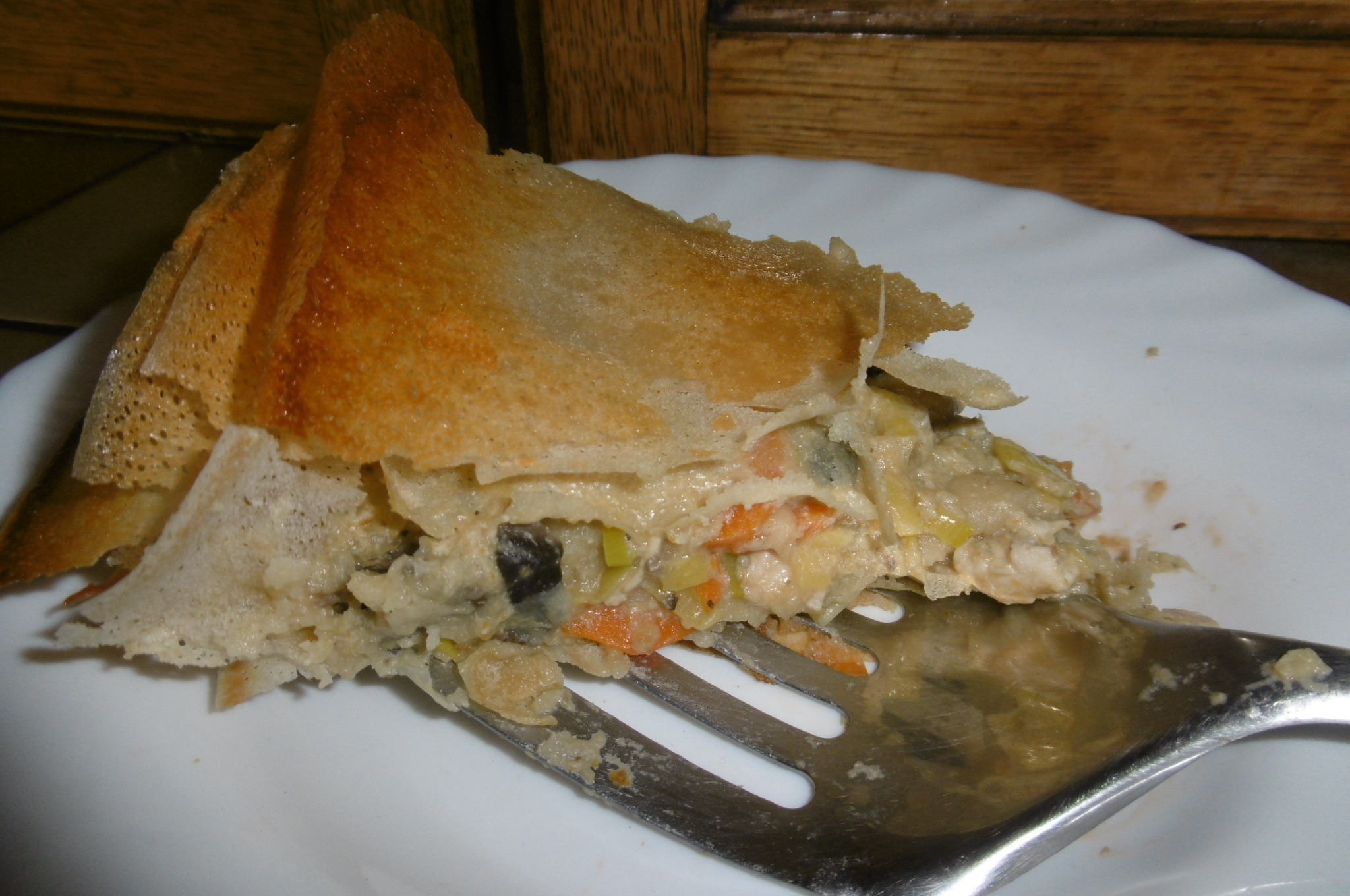 Madhouse recipe : Chicken & Leek Filo Pie