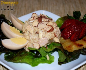 Grilled Pineapple Curry Tuna Salad