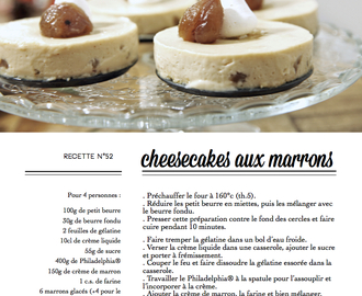 Fall sweeter (cheesecakes aux marrons).