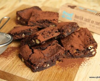 Brownies met dadels en walnoten