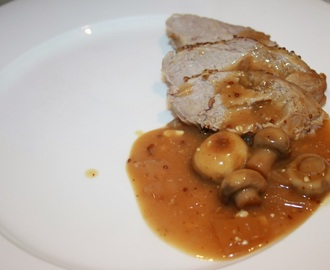 Pork in a Spiced Cider and Mustard Sauce