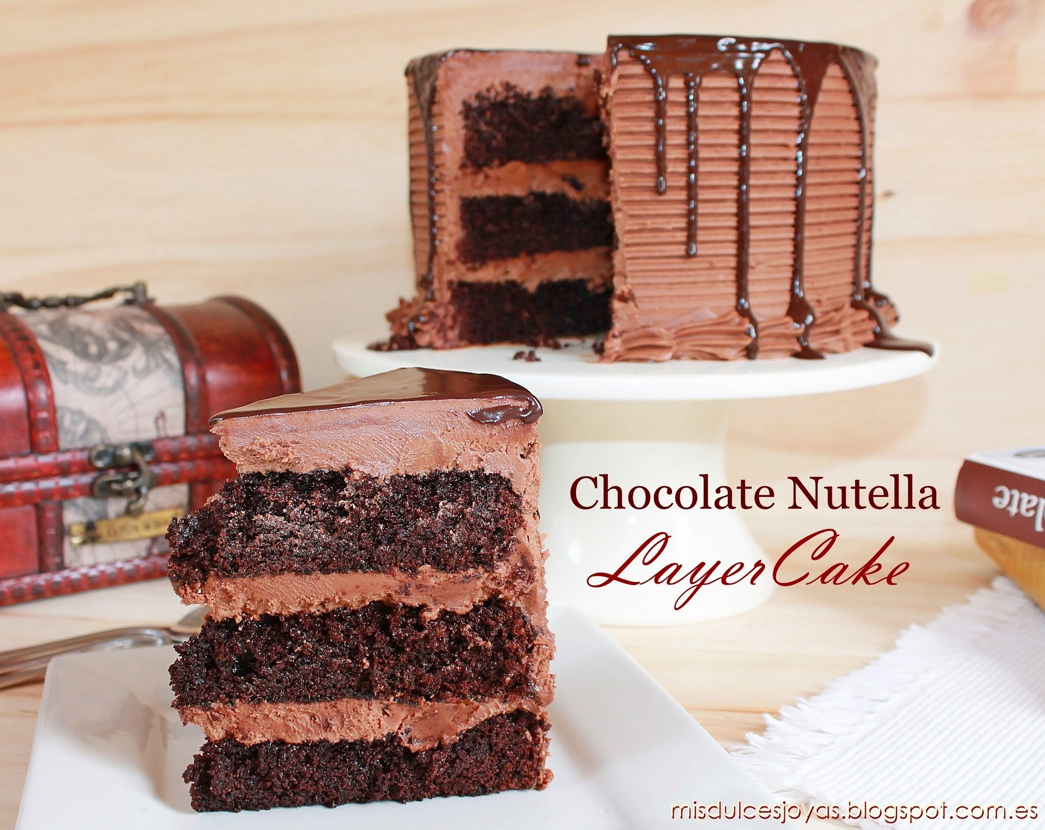 Chocolate Nutella Layer Cake