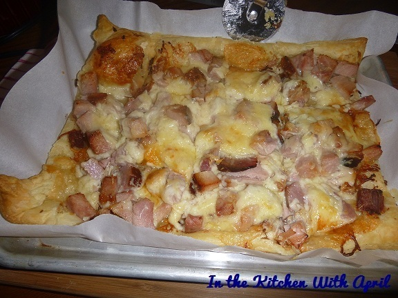 "Ham & Cheese Puff Pastry ""Pizza"""