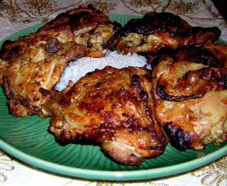 Oven Roasted Chicken Thighs or Fırında Tavuk But