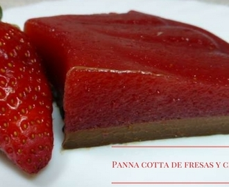 Panna cotta de fresas y chocolate
