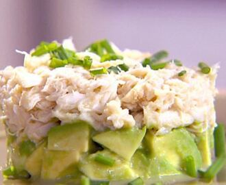 Crab and avocado tian