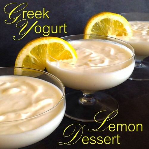 Greek Yogurt  Lemon Delight, The 3-Minute Dessert