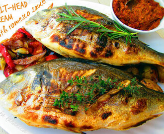 Orada s romesco umakom :: Gilt-head bream with romesco sauce