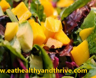 Mango Salad with Spicy Peanut Dressing