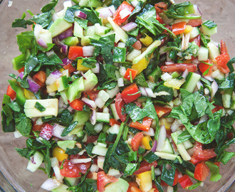 Healthy raw salad
