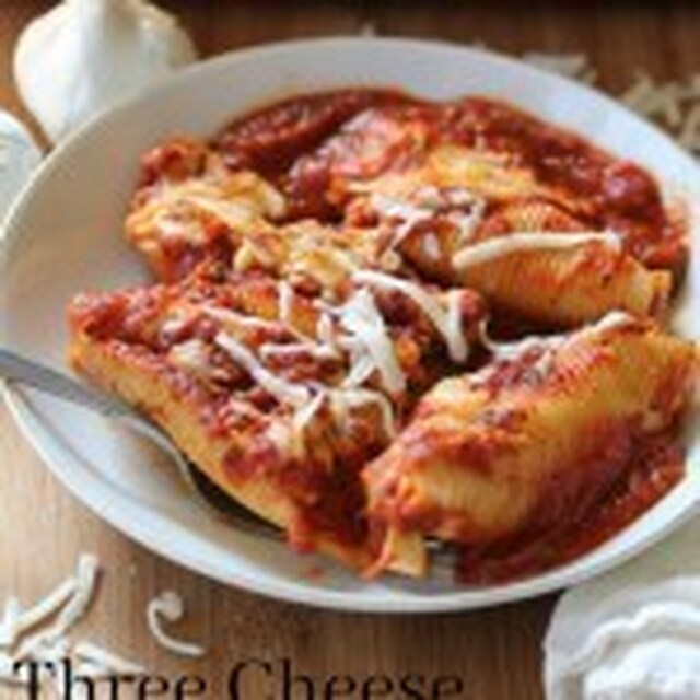Three Cheese Stuffed Shells with Homemade Marinara