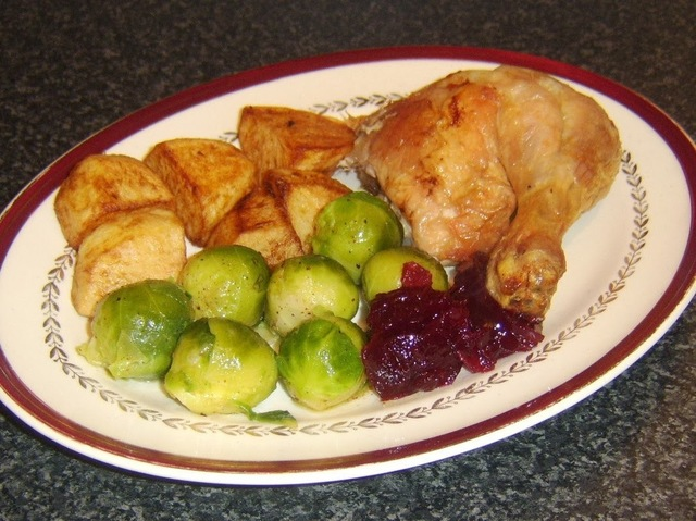 Roast Chicken Christmas Dinner