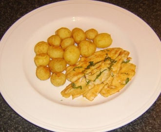 Spicy Plaice Fillets with Crispy Potatoes
