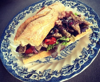 Sticky Steak Sandwich