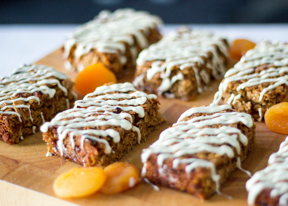 Apricot & White Chocolate Flapjacks