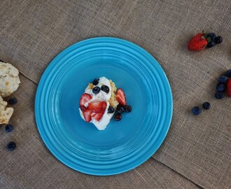 mixed berry drop cakes {A Blonde & a Border Collie guest post}