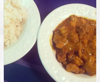 Receta de pollo al curry con arroz basmati