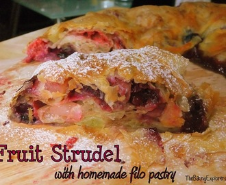 Fruit Strudel with Homemade Filo Pastry