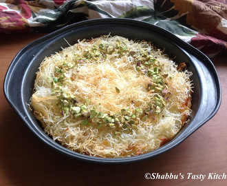 Kunafa / Kunafa With Cream And Cheese