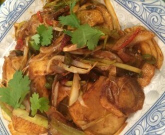 Gan Guo Tu Duo Pian – Hunan Spiced Potato and an easy Chinese dinner party menu