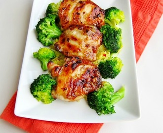 Japanese Style Roast Chicken Thighs