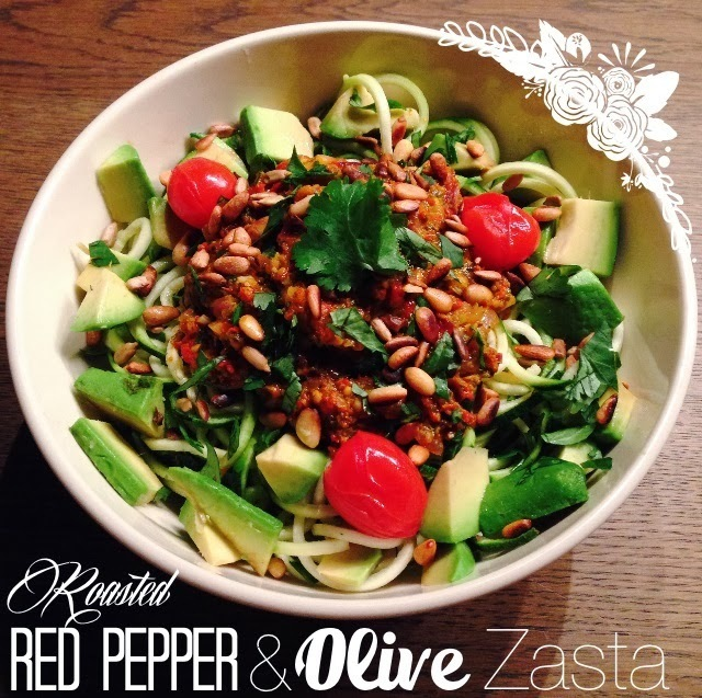 Roasted Red Pepper & Olive Zasta