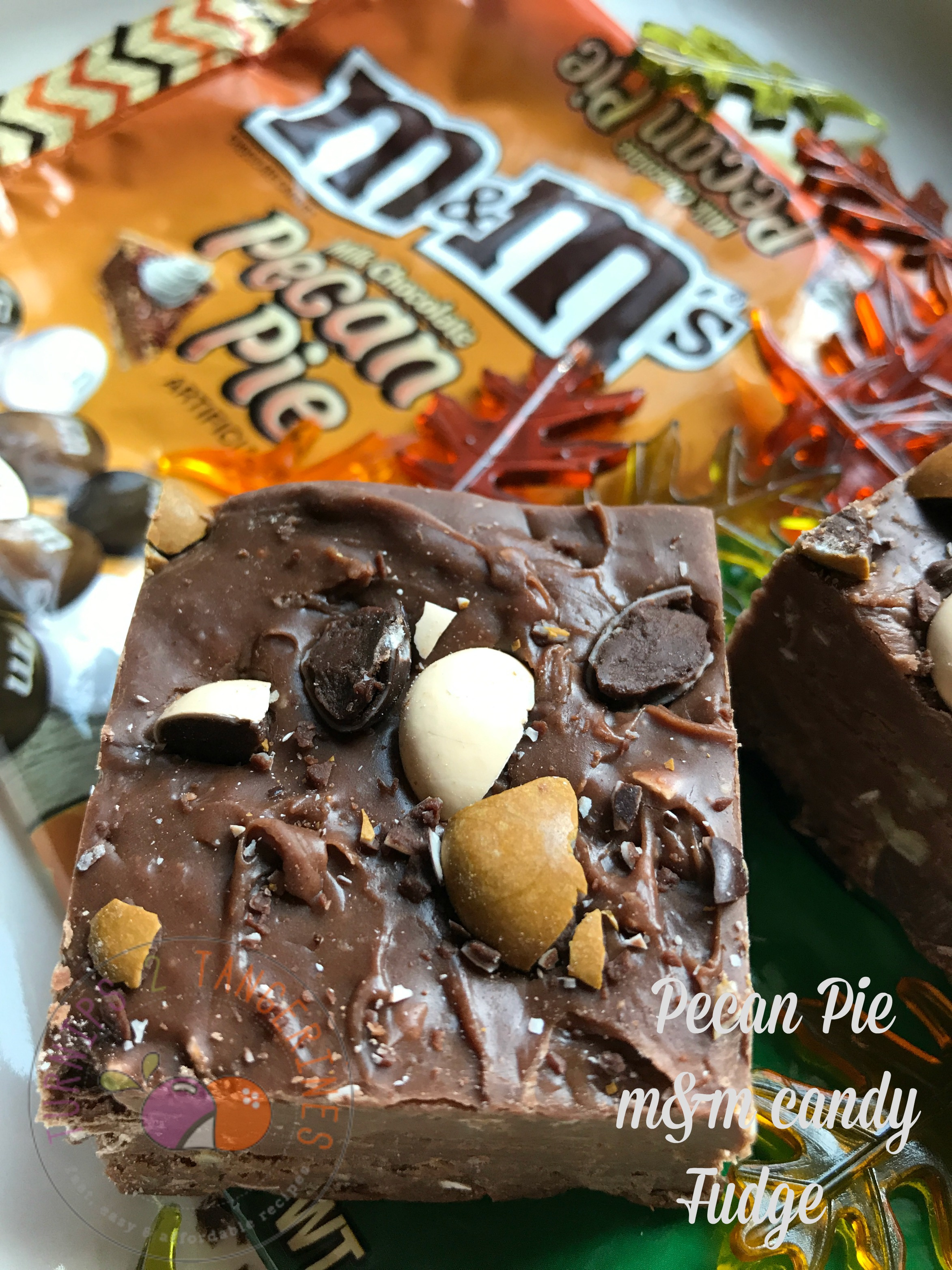 Pecan Pie M & M Candy Fudge