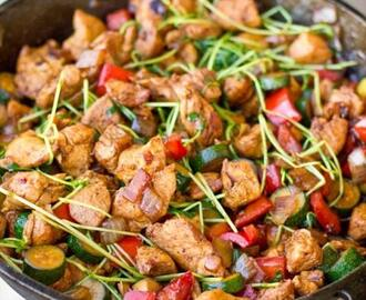 One Pot Low Carb Paleo Keto Asian Chicken Stir Fry Recipe