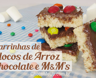 Barrinhas de Flocos de Arroz, Chocolate e M&M's