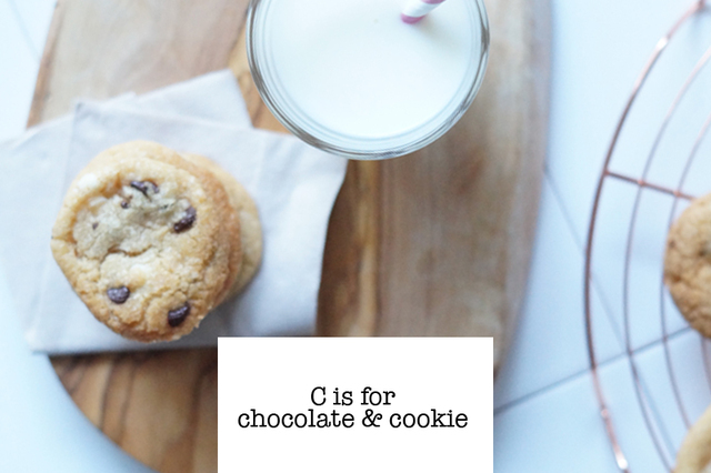 Recept – Chocolate chip cookies