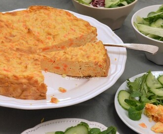 Carrot Pie (with potatoes and Swiss cheese)