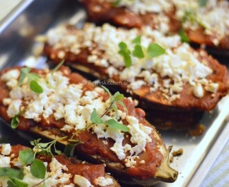 Ovengrilled Aubergines with Feta Cheese (Turkish Style)