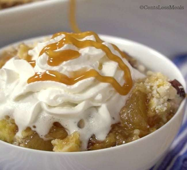 Caramel Apple Dump Cake Recipe with 4 ingredients