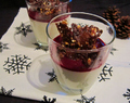 Panna cotta met rood fruit coulis en kletskop